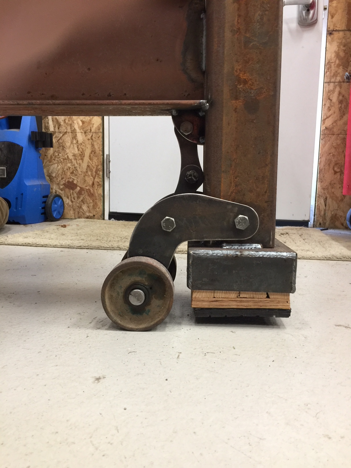 Vise Anvil Stand Fold Up Wheels Projects Langmuir